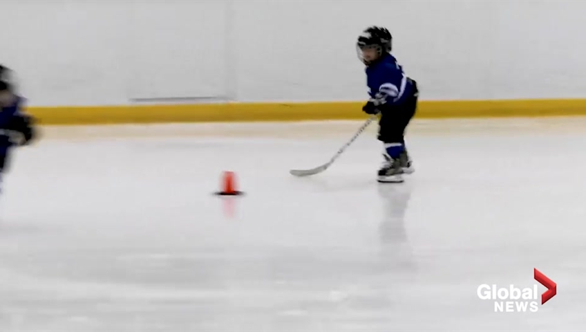2d03dc6af Ontario hockey dad mics up his 4-year-old at practice | Watch News Videos  Online