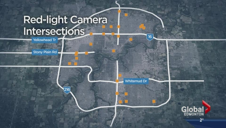 Red-light cameras in Edmonton