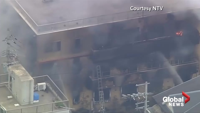 Japan mourns victims of suspected arson attack at Kyoto Animation studio