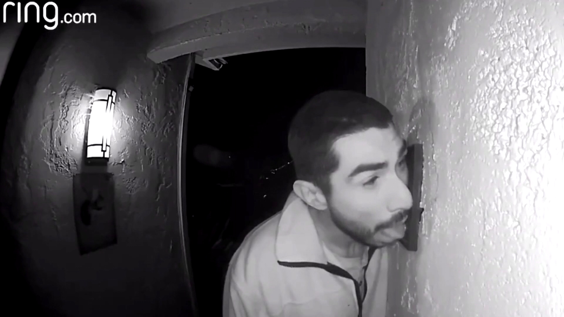 Police Hunt For Man Caught On Camera Vigorously Licking Familys Three Doorbells The Hearing Impaired Doorbell 3 Hours Watch News Videos Online