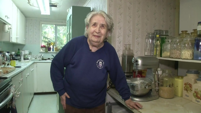 95 year old b c woman chases black bear out of kitchen watch news