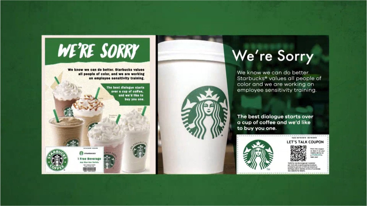 fake starbucks coupon offers african americans free coffee watch