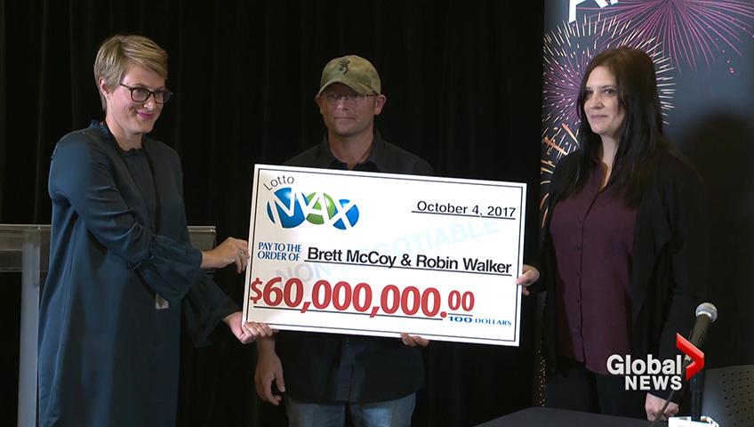 Alberta couple claim $60 million Lotto Max win