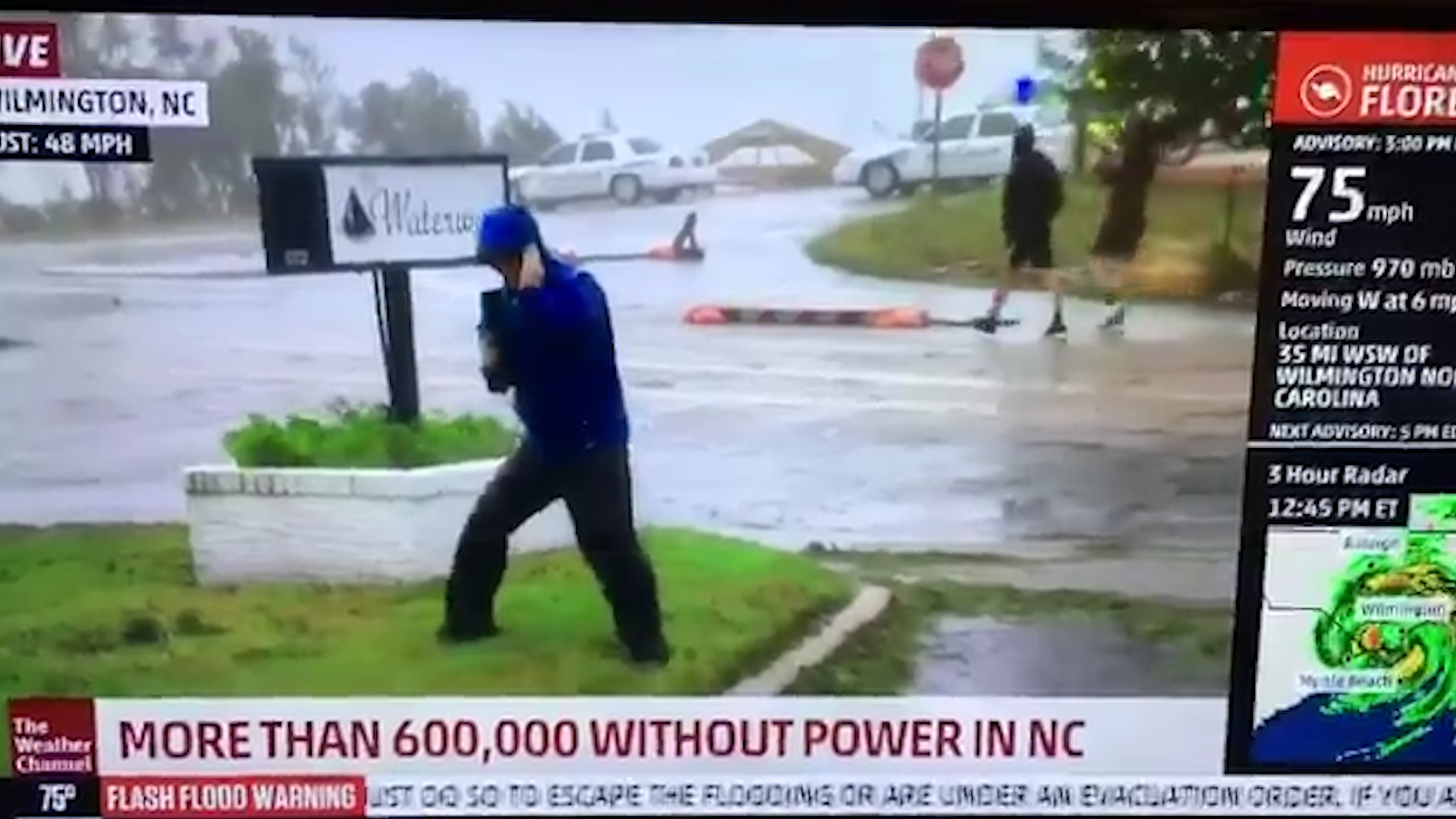 weather channel reporter mocked for overly dramatic hurricane