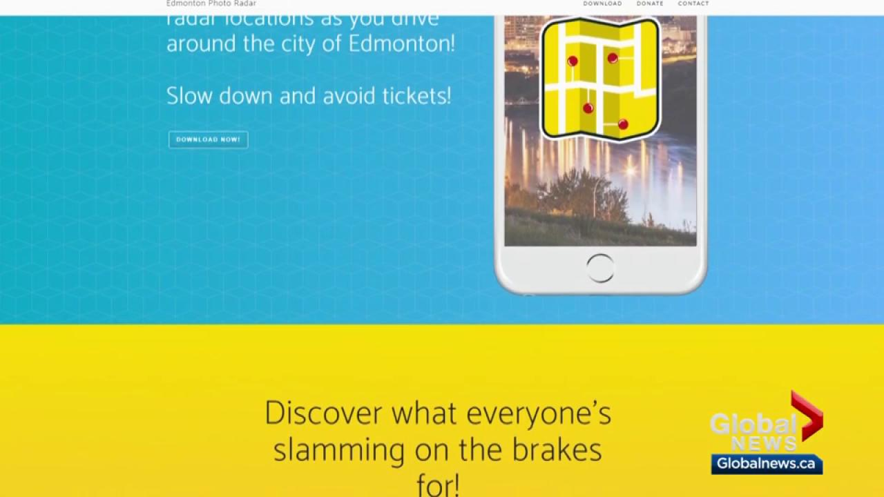 New app alerts Edmonton drivers about photo radar locations | Watch ...
