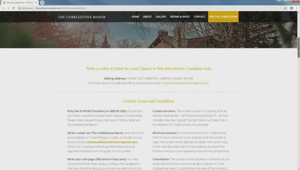 Essay contest to own Cobblestone Manor for $100
