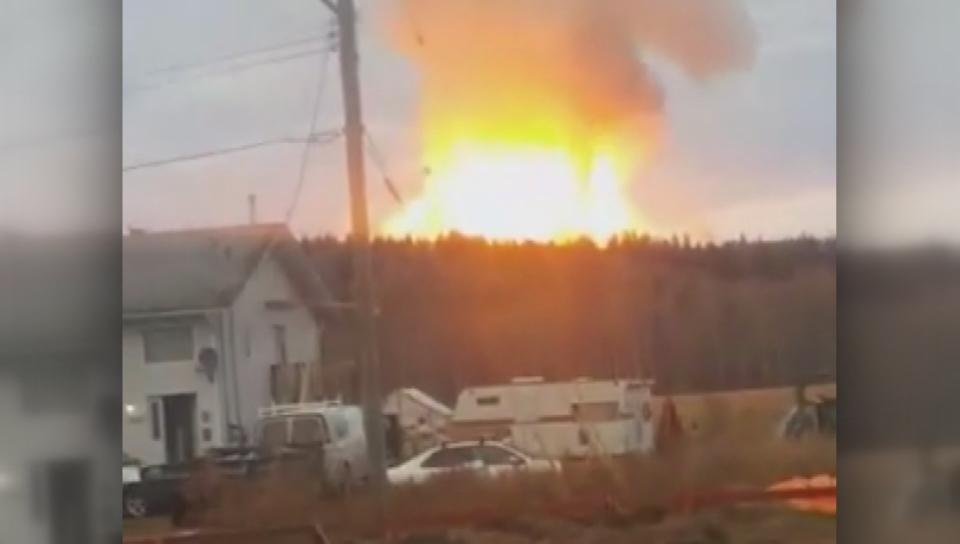 Enbridge natural gas pipeline explodes near Prince George