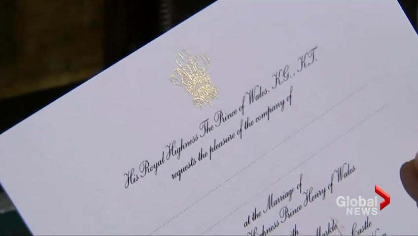 Royal Wedding Invitations Are In The Mail