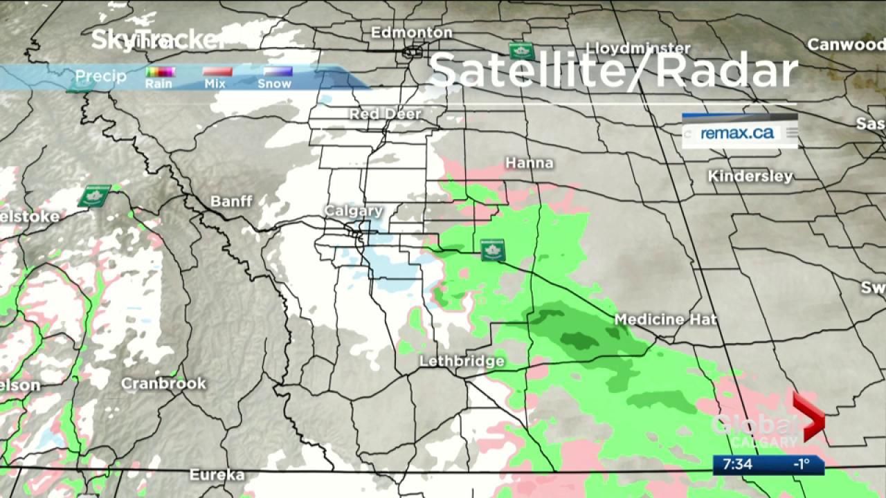 Calgary and southern Alberta under snowfall warning | Watch News ...