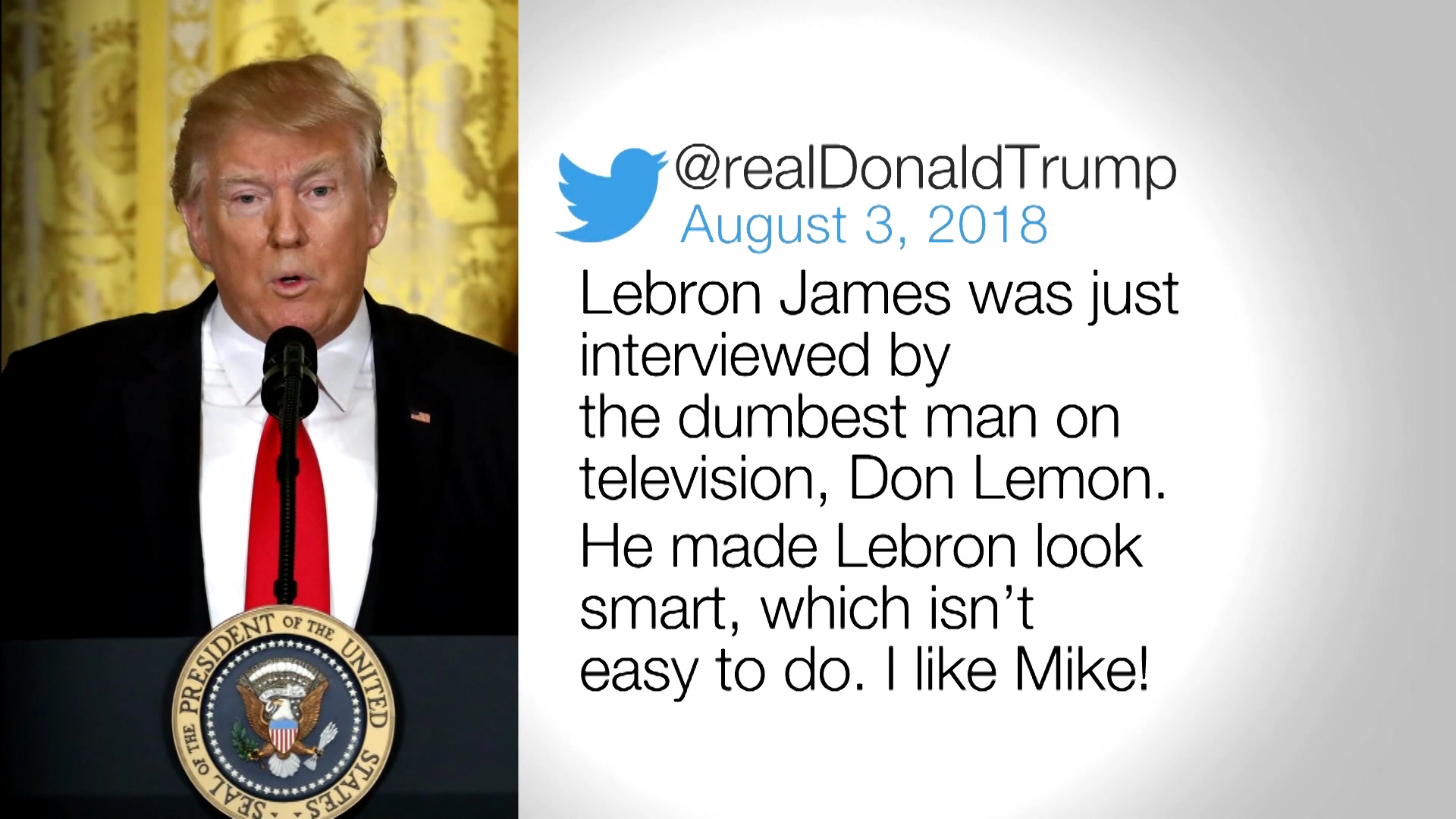 ad19eb08a64a First Lady Melania Trump praises LeBron James after Donald Trump insults  him