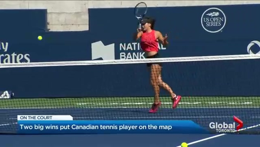 802823eb3 Rising tennis star fuels Canadian hopes after two big wins