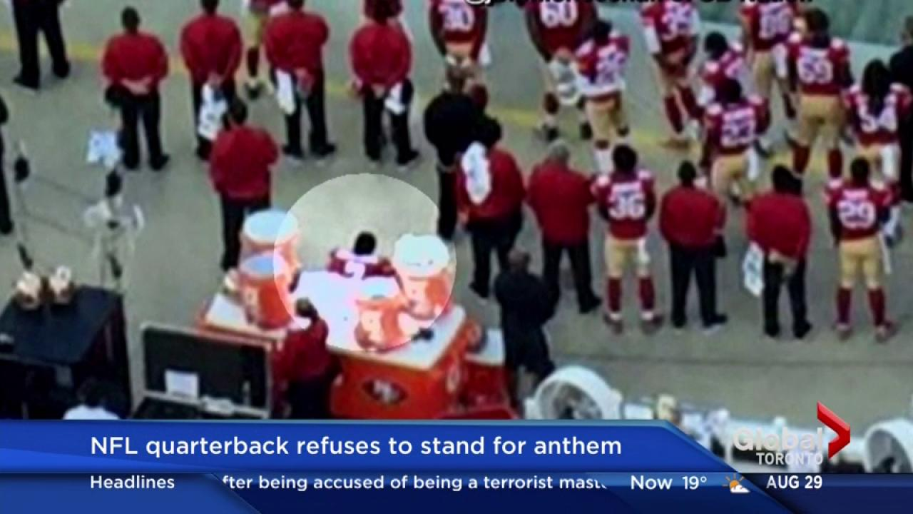 49ers colin kaepernick will sit through anthem until there s 49ers colin kaepernick will sit through anthem until there s change national ca