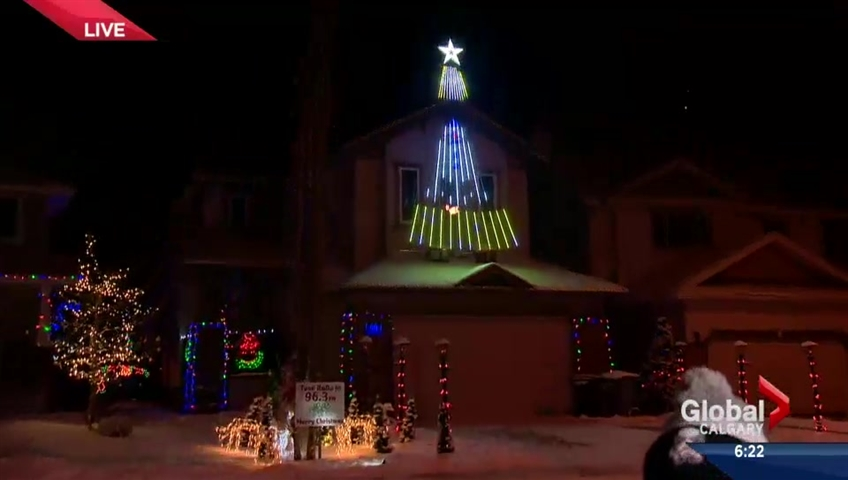 Star Wars themed display lights up Crestmont in Calgary | Watch ...