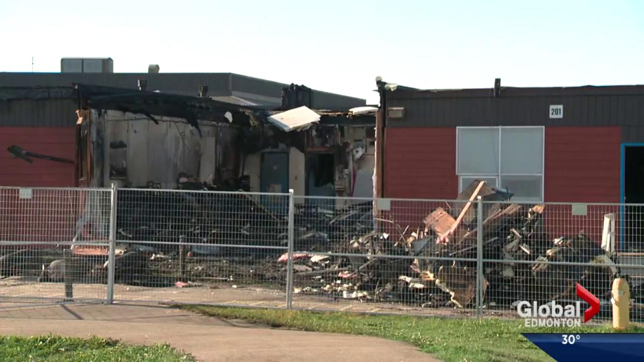 Seven portables destroyed in south Edmonton school fire | Watch News ...
