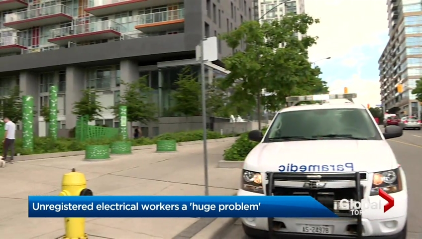 Unregistered electrical workers a 'huge problem,' says Ontario trade union