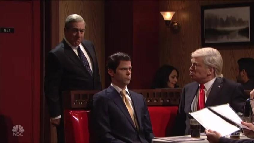 SNL parodies final scene in The Sopranos with Trump's team