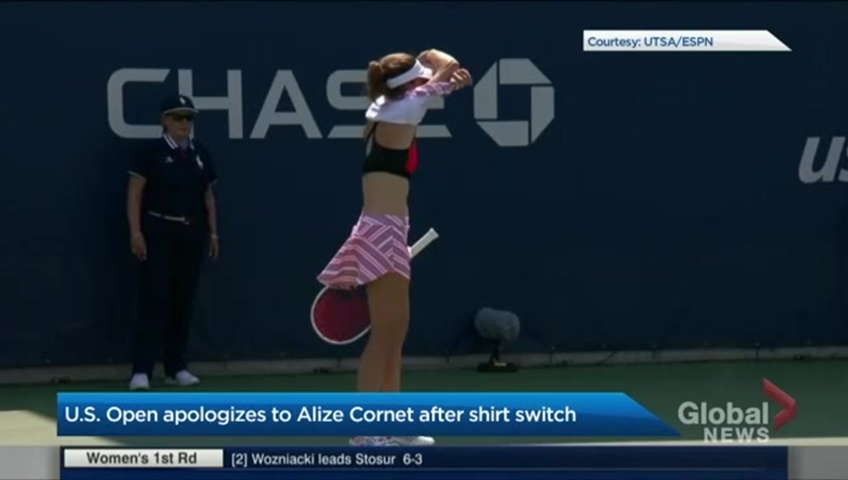 d154ce7c2e U.S. Open apologizes to tennis player who fixed her shirt