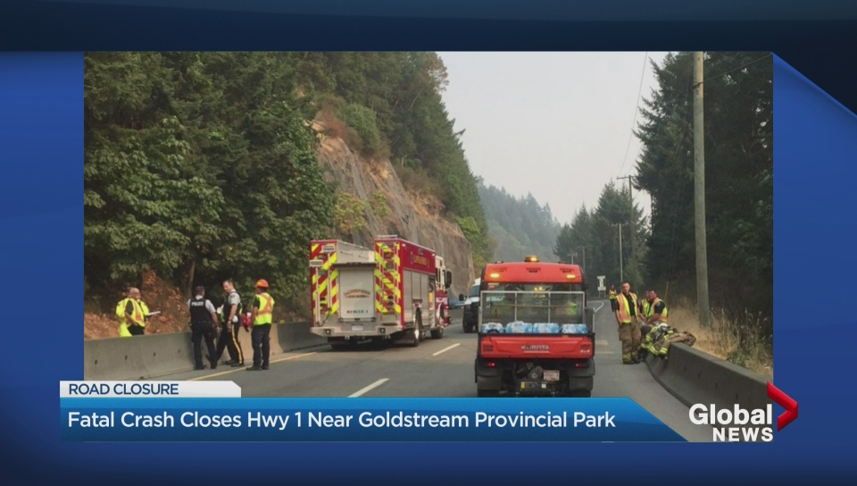 Malahat Highway closed after fatal collision involving SUV, sewage truck
