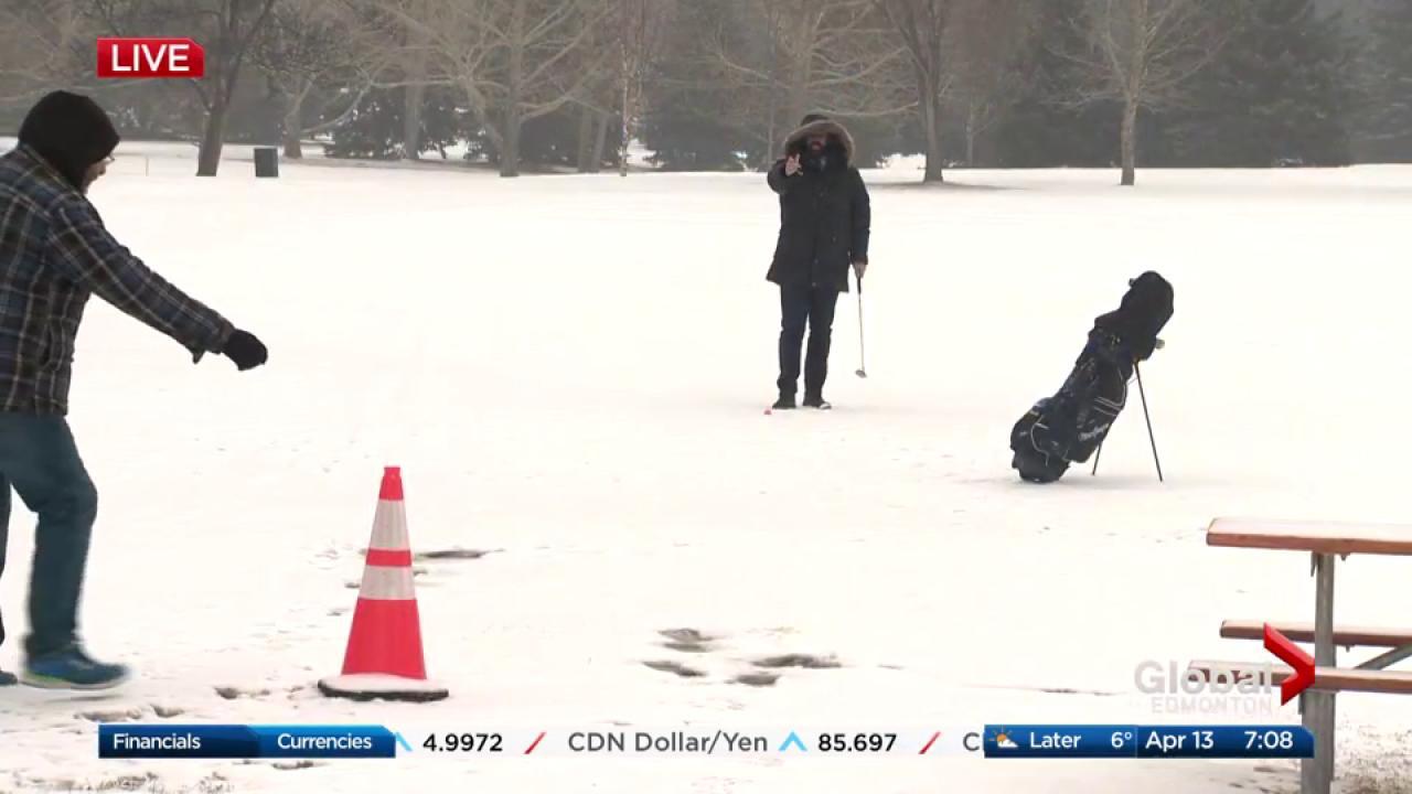 Edmonton reporter Kent Morrison endures snow, wind and cold to get ...