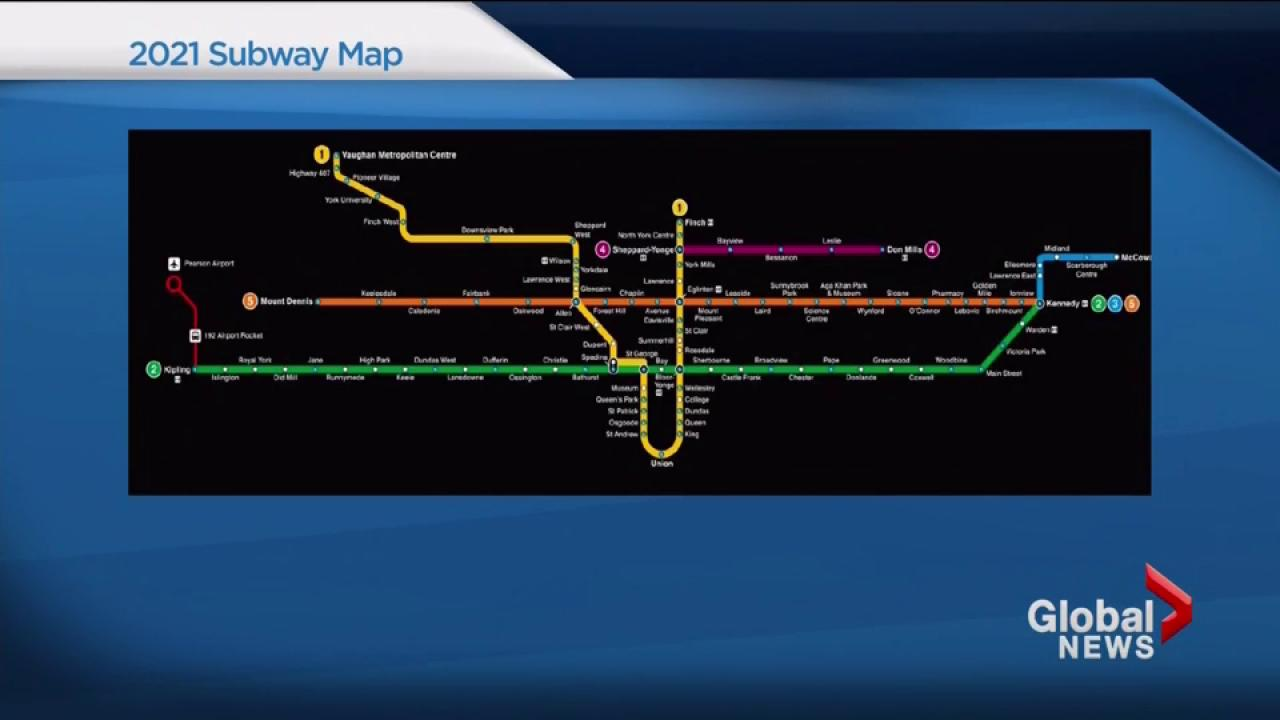 Toronto Subway Map Union Station.Ttc Releases Glimpse Of Future Subway System Map