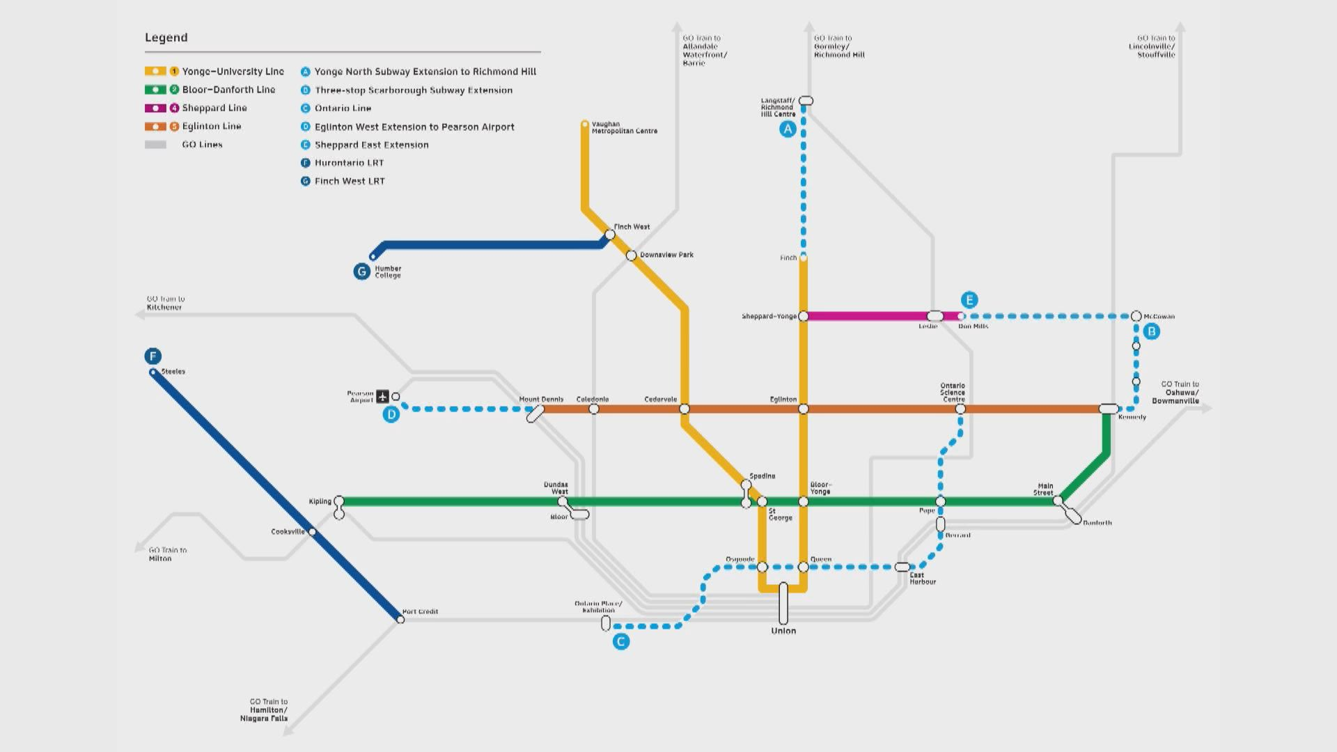 a look at ford government's new toronto transit plan | watch news videos  online