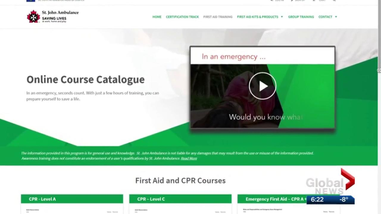 Edmonton company helps st john ambulance launch online first aid edmonton company helps st john ambulance launch online first aid courses watch news videos online 1betcityfo Gallery