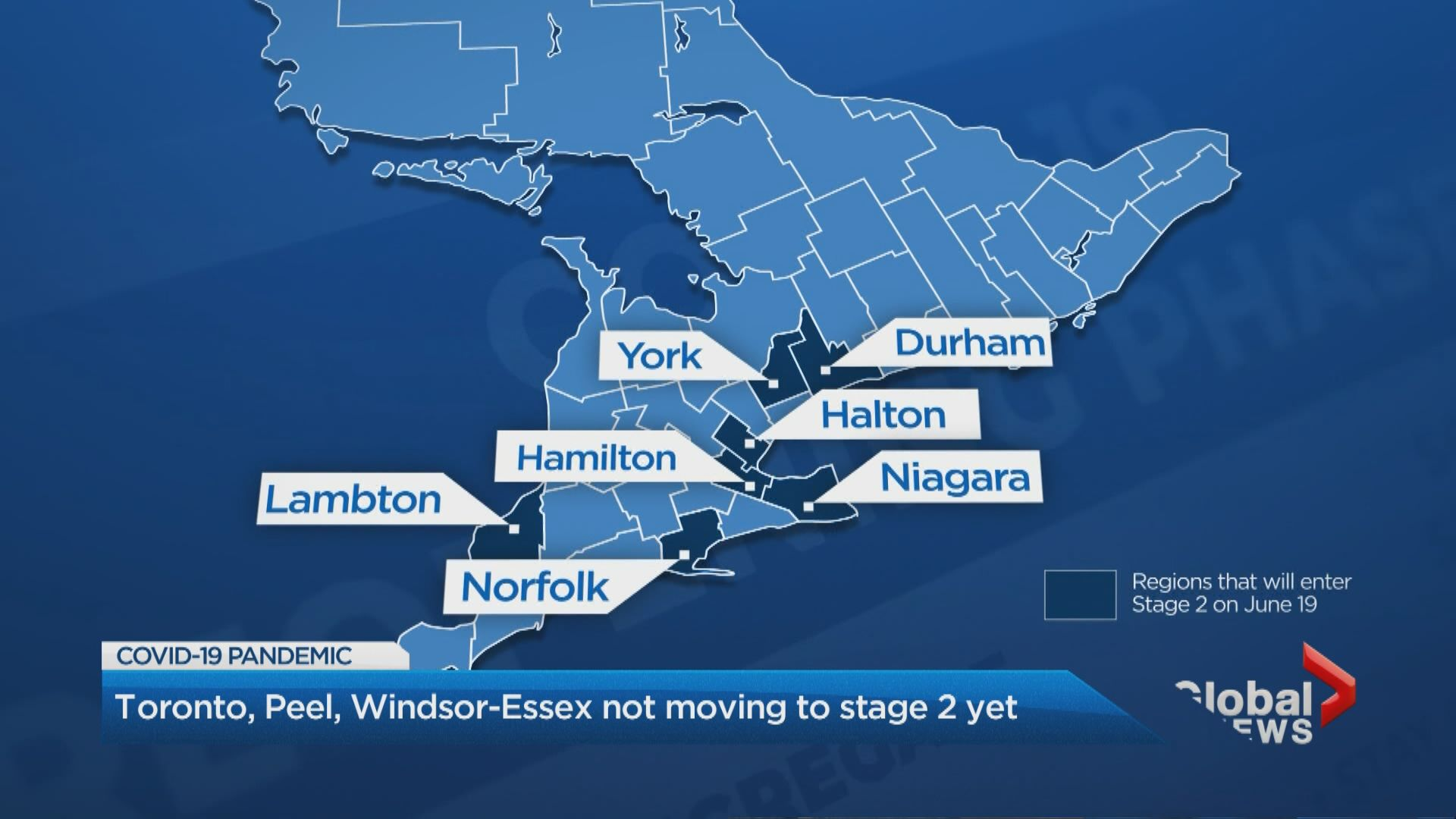Coronavirus Toronto Peel And Windsor Won T Move To Stage 2 Of Reopening On Friday Watch News Videos Online