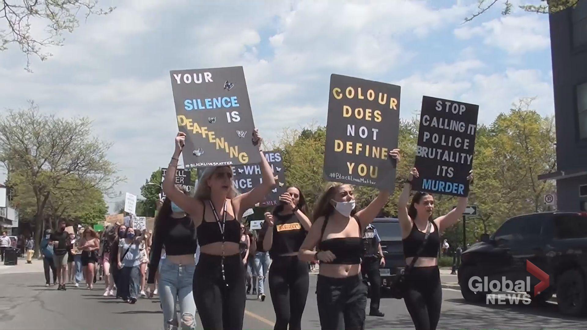 Hundreds attend Black Lives Matter march in Cobourg | Watch News ...